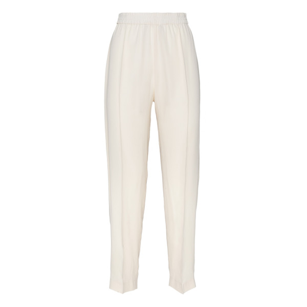 Comfort white silk pants