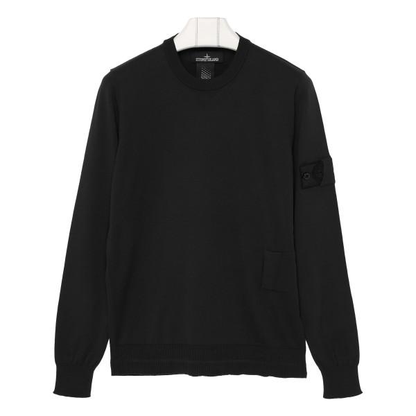 Black soft cotton sweater