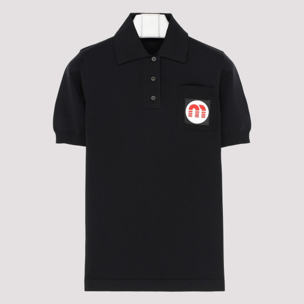 Black polo with logo