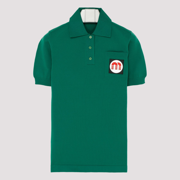 Green polo with logo