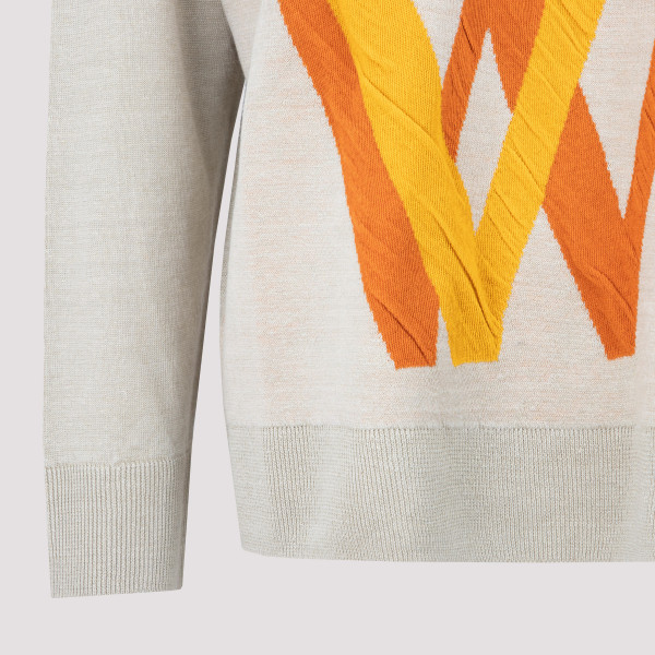 Loewe Love jacquard sweater in linen and cotton