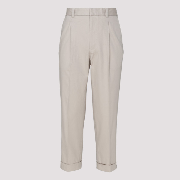 Cold beige cotton pants