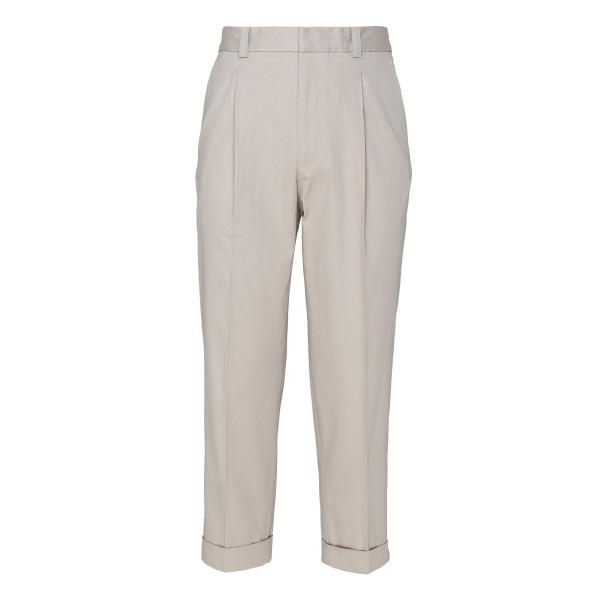Cold beige cotton pants