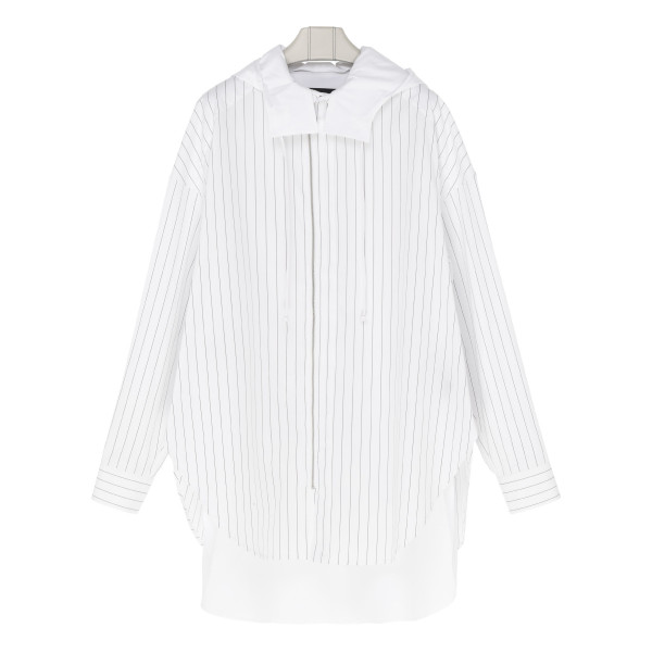 White cotton zipped shirt