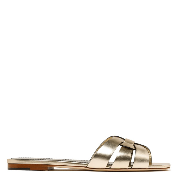 Metallic gold Tribute flat sandals