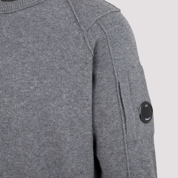 CP Company Lambswool Crew Neck Knit Sweater