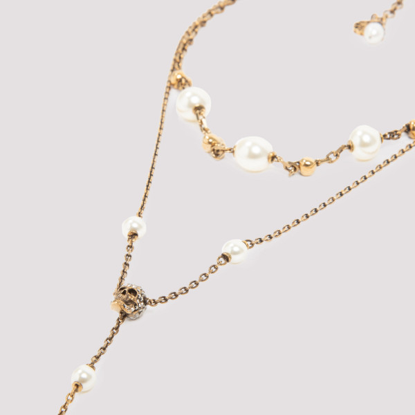 Alexander McQueen Skull and Pearl Necklace