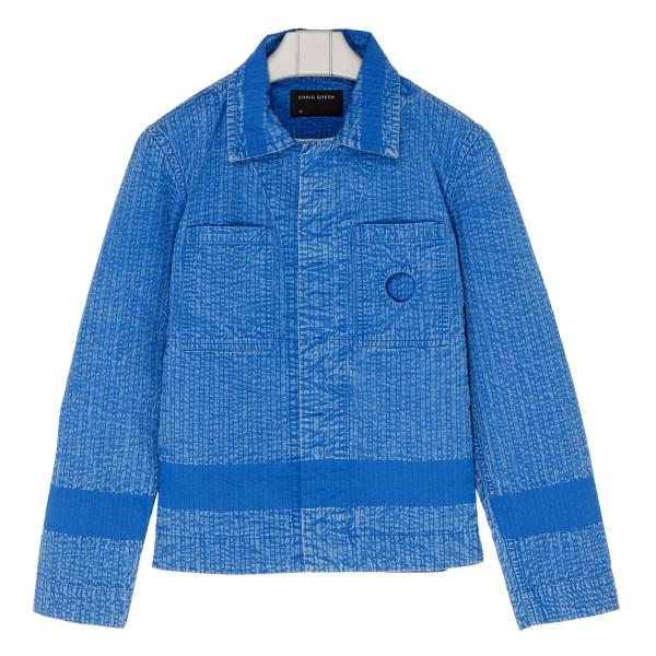 Blue cotton worker jacket