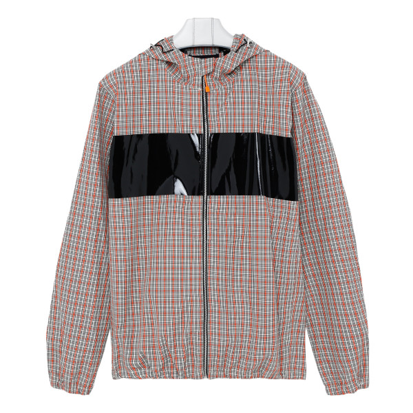 Checkered windbreaker jacket