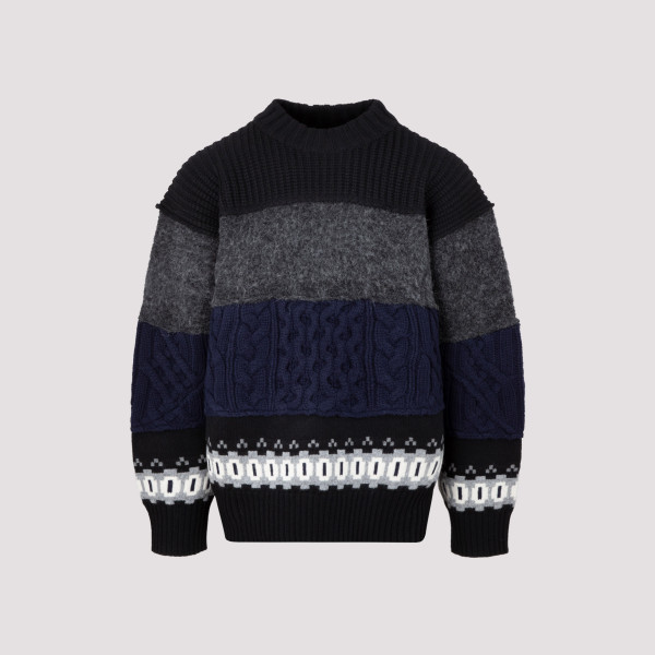 Sacai Wool Knitted Pullover