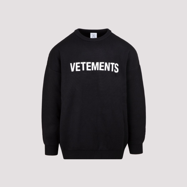 Vetements Logo Knitted Sweater