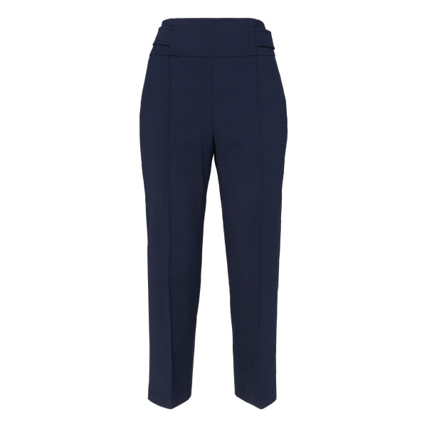 Blue stretch cotton pants
