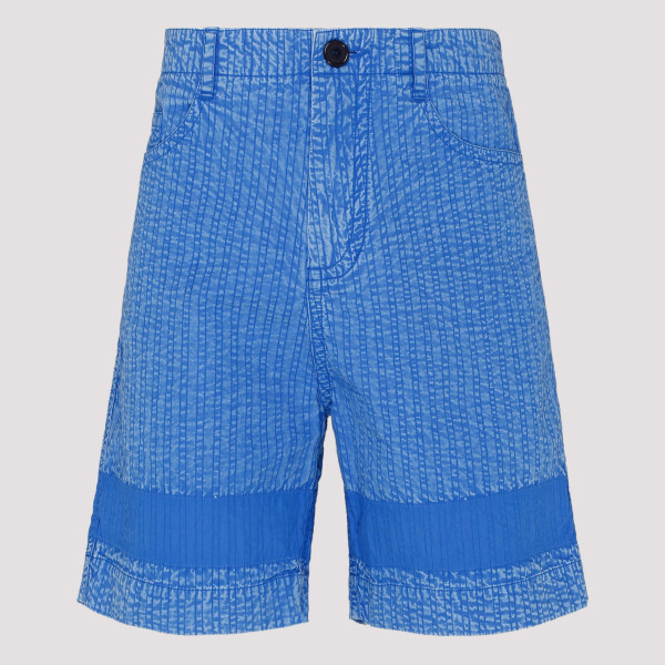 Blue cotton bermuda pants