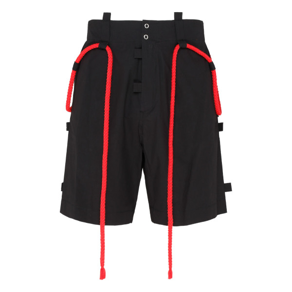 Black bermuda with red rope