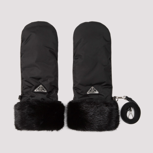 Prada Fur and Leather Gloves