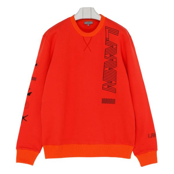 Red cotton logo sweatshirt