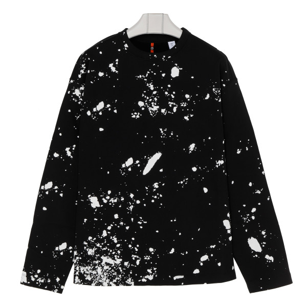 Black cotton sprayed sweatshirt