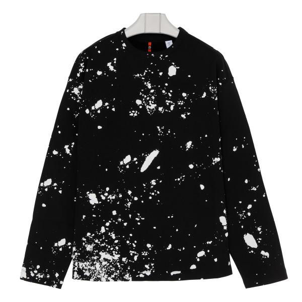 Black cotton sprayed sweatshirt