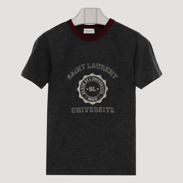 Gray cotton college logo...