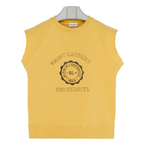 Yellow Sleeveless Logo Top