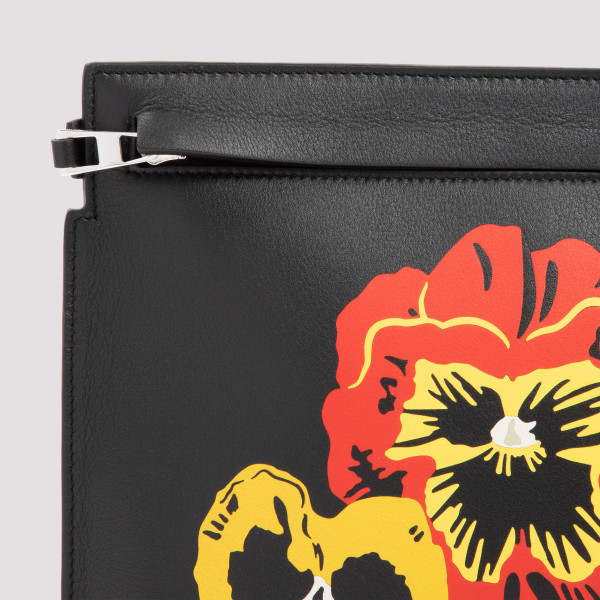 Loewe Pansies T Pouch in classic calfskin