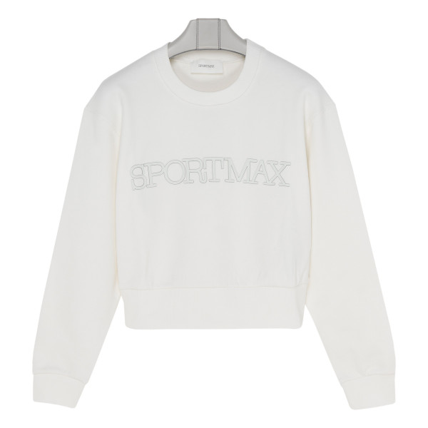 Logo white cotton sweatshirt