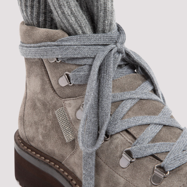 Brunello Cucinelli Suede and Cashmere Boots