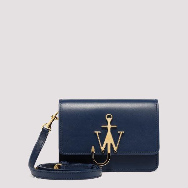 Navy leather Anchor logo bag