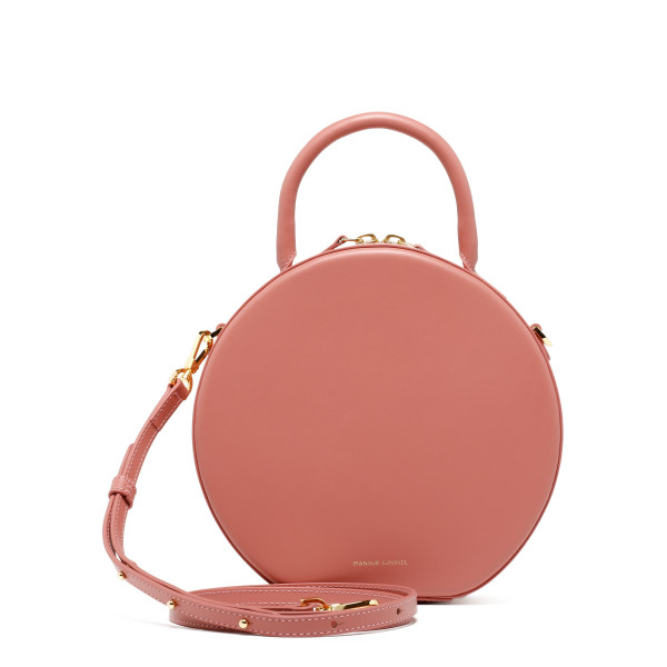 Circle pink shoulder bag