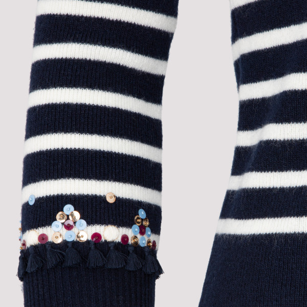 Valentino Wool Embroidered Sweater