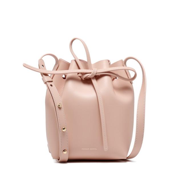 Pink mini mini bucket bag