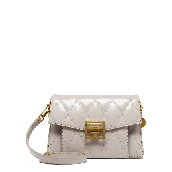 GV3 diamond-quilted ivory bag