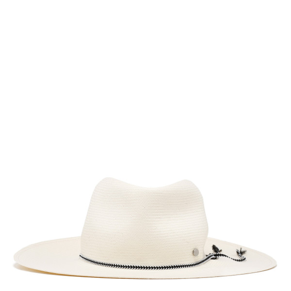 Charles white fedora hat
