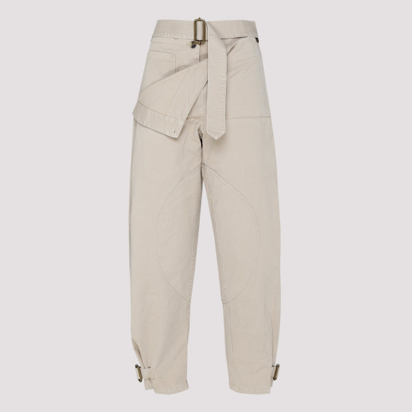 Beige cotton Utility pants