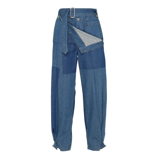 Blue denim cotton Utility pants
