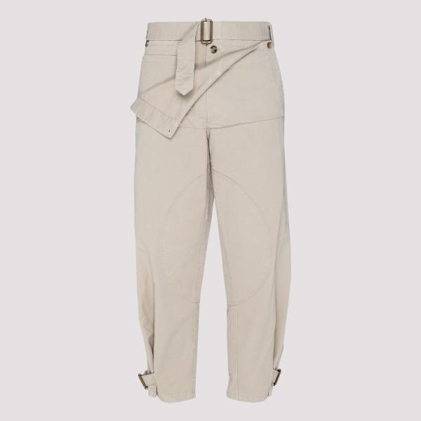 Beige cotton Utility pants