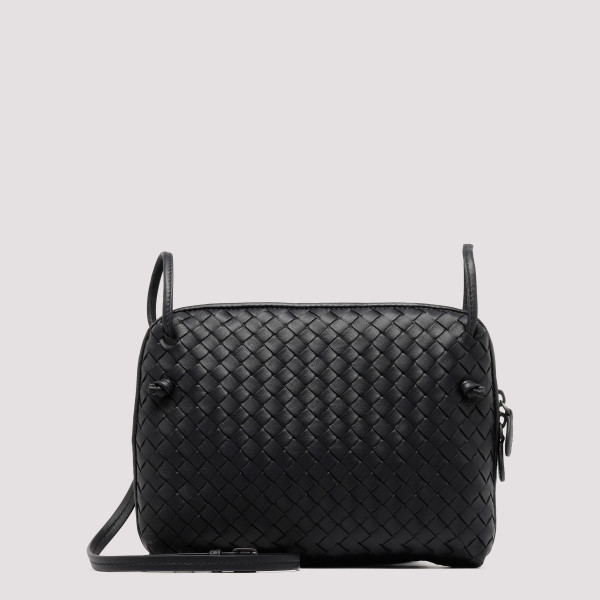 Black Intrecciato leather...