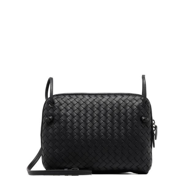Black Intrecciato leather nodini bag