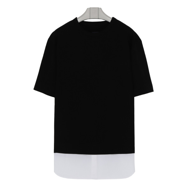Double layered cotton T-shirt