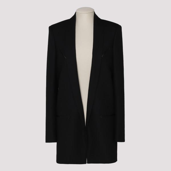 Black wool western style jacket