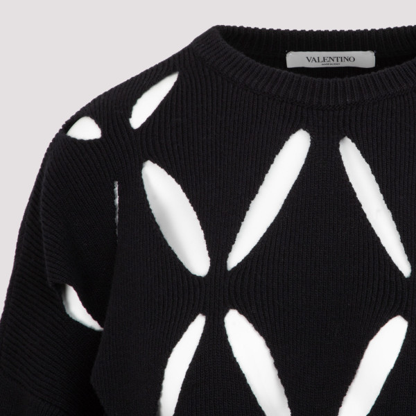Valentino Perforated Knit Sweater