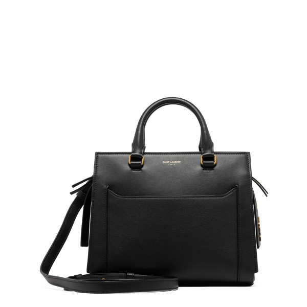 Black smooth leather East side small bag