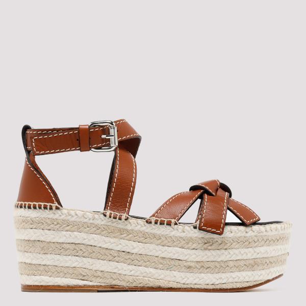 Brown Gate Wedge Sandals