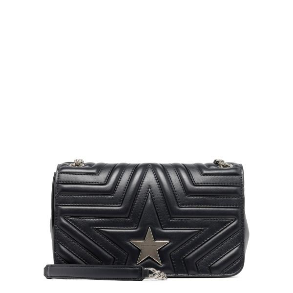 Black Stella Star Flap-Over Shoulder Bag