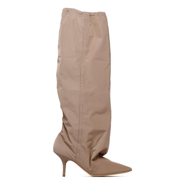 Khaki knee-high boots