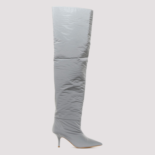 Reflective knee-high boots