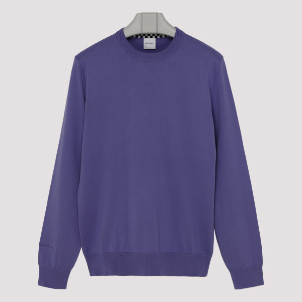 Purple sweater with logo