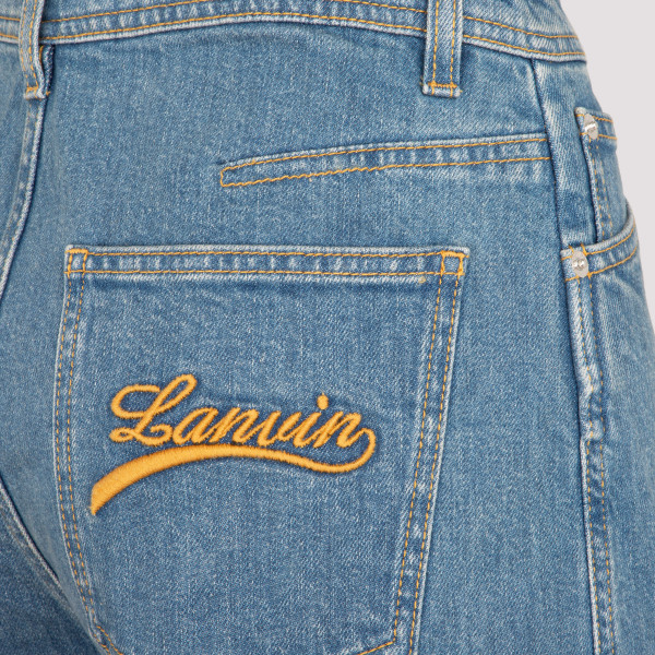 Lanvin Embroidered Flared Jeans