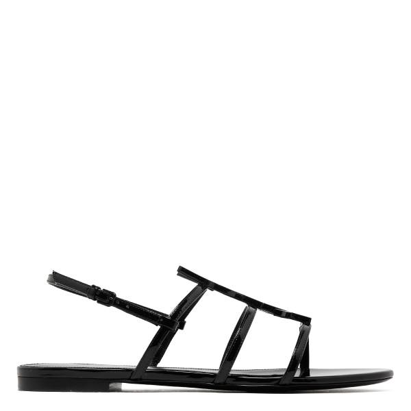 Cassandra Nu pied patent sandals