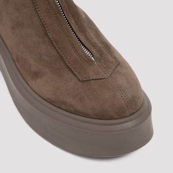 The Row Zipped Suede Boots